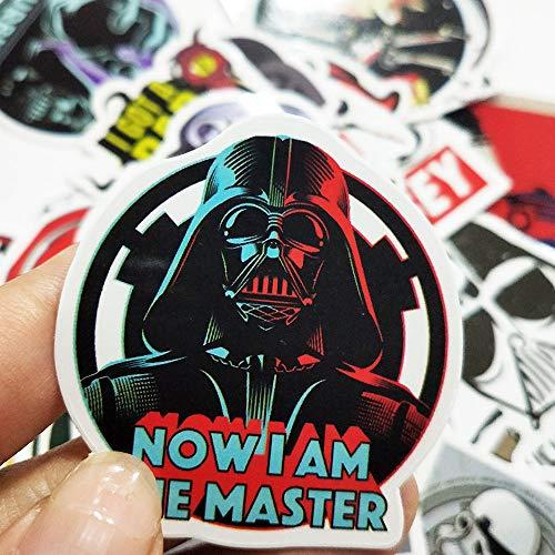 WWJIE Pegatinas de película Star Wars Fun Stickers Laptop Guitar Skateboard Maleta Doodle Stickers 50 Hojas