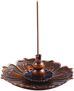 LamDawn Updated Version 3-in-1 Incense Burner Incense Stick Holder for Use with Resin Granular Powder Cone or Coil Incense (Bronze, Magnetism)