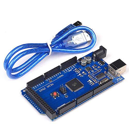 Valigrate MEGA 2560 R3 Entwicklungsboard CH340G ATMEGA 2560 Kit mit USB-Kabel für Arduinos