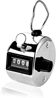 On Tracker | Heavy Duty Metal 4 Digit (0000 to 9999) Manual Handheld Tally Mechanical Click Counter/Tracker, Resettable Finger Ring Metal 1 Pcs