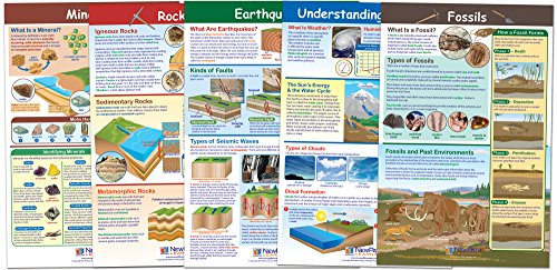 NewPath Learning - 34-9801 Earth Science Posters, Set/5 - Laminated, Full-Color, 23' x 35'