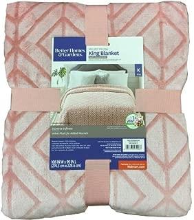 Better Homes and Gardens Velvet Plush King Blanket, Blush Texture