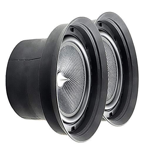 [1 Paar = 2 Stück] Schallwand-Dichtung für 165 mm Lautsprecher | inklusive Schallabsorber (Paar)