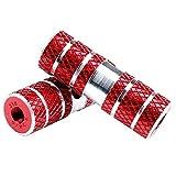 Helaryfreemear Pinzas para bicicleta, BMX Stunt Peg para bicicleta de montaña (rojo)