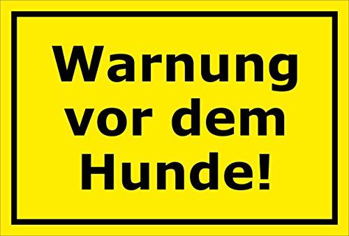 Schild Achtung Freilaufender Hund Warnschild Hinweisschild Vorsicht – 15x20cm, 30x20cm und 45x30cm – Bohrlöcher - Aufkleber Hartschaum Aluverbund -S00037C