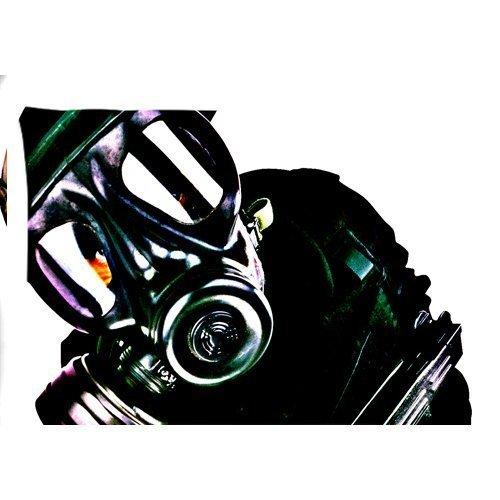 Oscuro Máscara de gas con cremallera fundas de almohada cubierta 20x 30pulgadas