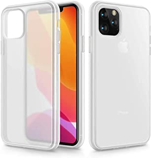 Beetle Style for iPhone 11 Pro Max Case,Matte Translucent Anti-Scratch Hard PC Back with Microfiber Lining,Dropproof Shockproof Dirtproof Waterpproof Protective Case Cover for iPhone 11 Pro Max,White