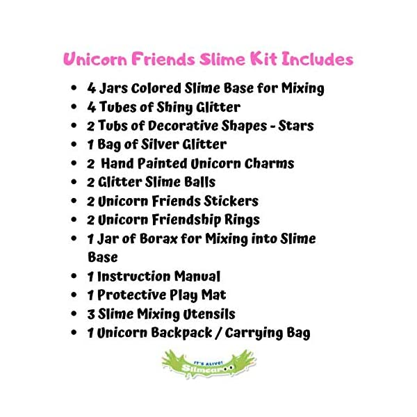 Alpine Summit Unicorn Slime Kit Supplies Stuff for Girls Making Slime [Everything in One Box] Includes Unicorn Backpack… 8