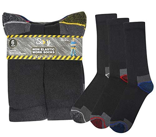 12 Paar Herren Arbeitssocken / Schuhsocken, strapazierfähig, nicht elastisch, Größe 39-45