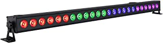 LED Wash Lights, YeeSite 72W 24LED Stage Lights Bar with RGB Tricolor Sound Activated and DMX Control for Church Wedding DJ Club Christmas Stage Lighting