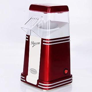 Rouge électrique 1100W Retro Popcorn Maker - Faire délicieux sain sans gras chaud Air Popped Cinema Popcorn