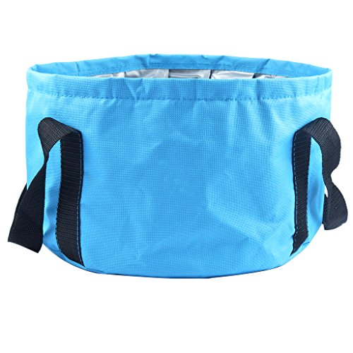 Hooyee - Cubo plegable, multifuncional, portátil, de viaje, para uso al aire...