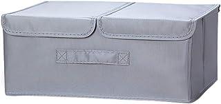 Vêtements Boîte De Rangement Avec Poignées En Tissu Double Couverture Grand Sac De Rangement De Jouets Livres Pliable Stor...