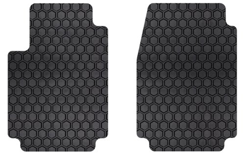 Intro-Tech MB-227-RT-B Hexomat Front Row 2 pc. Custom Fit Auto Floor Mats for Select Mercedes Sprinter Van Models - Rubber-Like Compound, Black