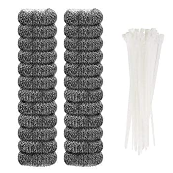 24 Pieces Lint Traps Stainless Steel  NEVER RUST  Washing Machine Lint Snare Traps Washer Hose Lint Traps with 24 pcs Cable Ties