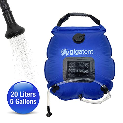 GigaTent 5 Gallon, 20 Liter, Portable, Solar, Shower Bag