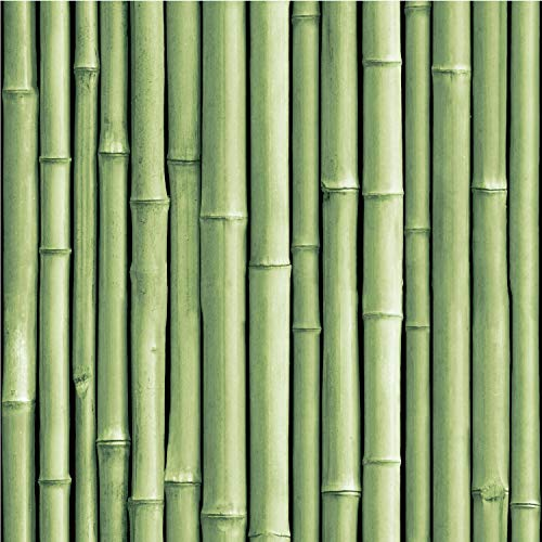 Roommates Bamboo Green Peel and Stick Wallpaper | Removable Wallpaper | Self Adhesive Wallpaper
