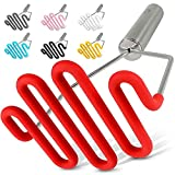Zulay Kitchen Non-Scratch Potato Masher Kitchen Tool - Durable Stainless Steel Wrapped In Premium Silicone Mashed Potatoes Masher - Versatile Masher Hand Tool & Potato Smasher (Red)