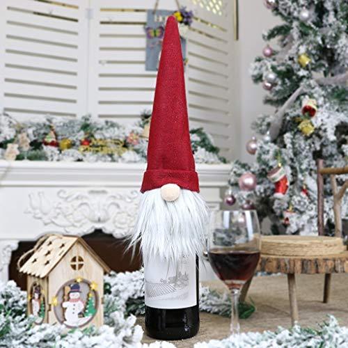 Decoración de Navidad para botellas de champán, decoración de Navidad, decoración de Navidad, decoración de manualidades (color: C)