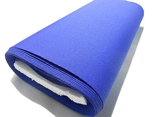 vivi casa Tessuto Tela per Sedia A Sdraio H 45 cm Tinta Unito Righe Vendita al Metro (Unito Blu)