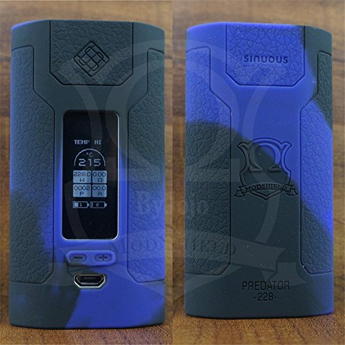 ModShield for Wismec Predator 228 TC 228W Silicone Case By Jojo Skin Wrap Sleeve Cover (Purple/Black)