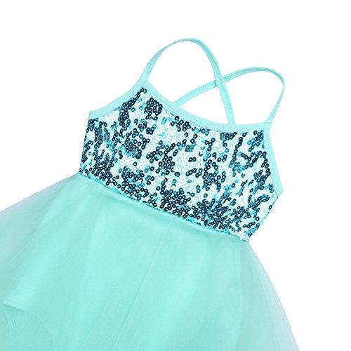 iiniim Girls Leotard Dress Ballet/Dance/Gymnastic Tutu Skirt Dancewear Costume Age 2-12 Years Mint Green Ballerina 2-3 Years