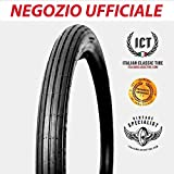 2.50-17 rigato ORIGINALI Italian Classic Tire ICT pneumatici per moto d'epoca