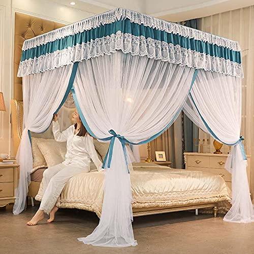 Mosquitera Net Bed Canopy Malla Protección contra Insectos Cortina de protección de Insectos de poliéster para niñas Princesa Dormitorio Decoración del hogar Regalos-mi_150x200cm