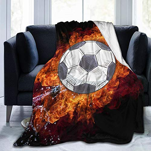 Football Blanket Soft and Warm Flannel Fluffy Lightweight Breathable Throw for Cinema Yoga Camping Picnic Travel Beach Home Size for Kids Teens Adults