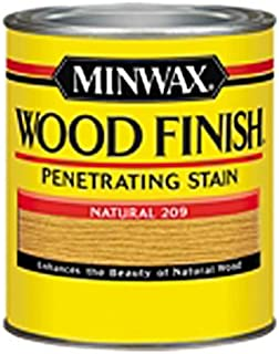 Minwax 220904444 Wood Finish Penetrating Interior Wood Stain, 1/2 pint, Natural