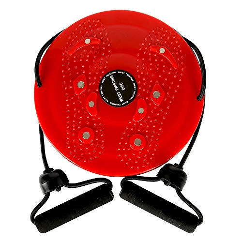 HSRG Fitness Fußmassage Disc Balance Aerobic Übung Twisted Taille Platte Magnet Taille Wriggle Platte Disk Twist Board,Red