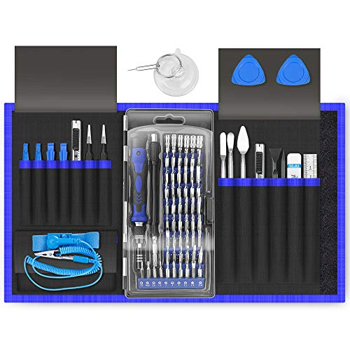 XOOL 80 in 1 Precision Screwdriver Set with Magnetic Driver Kit Professional Electronics Repair Tool Kit for Computer, PC, Mac-Book, Laptop, Tablet, iPhone, Xbox, Game Console