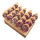 Papel Kraft Y Confeti De Pétalos De Rosa Secos Conjunto De Confeti De Flores Secas De Boda Decoración De Confeti Pétalos De Rosa Naturales Confeti Biodegradable