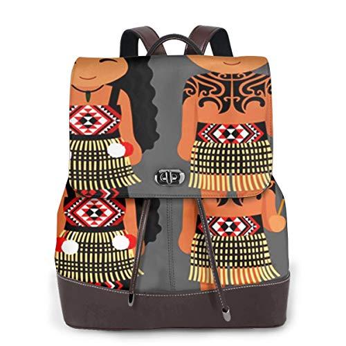 SGSKJ Rucksack Damen Neuseeländer, Leder Rucksack Damen 13 Inch Laptop Rucksack Frauen Leder Schultasche Casual Daypack Schulrucksäcke Tasche Schulranzen