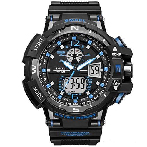 SMAEL Women Men Unisex Reloj De Pulsera Sporty-Military Plastic Quartz Analogous-Digital SL-1376