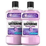 Listerine Collutorio, Total Care, Menta Pura, 6 Benefici in 1, 2 Confezioni da 1 L