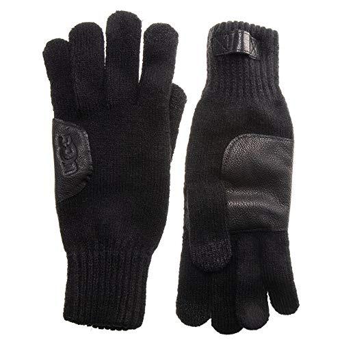 UGG® Herren Leather Patch Handschuhe Schwarz ONE Size