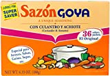 SAZON GOYA CORIANDER & ANNATTO SEASONING JUMBO PACK 36 SACHETS 180g BOX