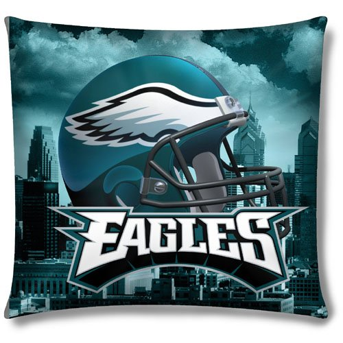 Philadelphia Eagles NFL Photo Real Toss Pillow (18x18 )