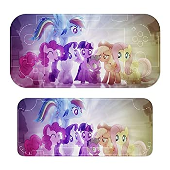 Anime M-y Li-ttle Po-ny Stickers Decals Cover for Switch Lite Gaming Skin Compatible for Switch Controller,Durable Full Set Wrap Protective Faceplate Console