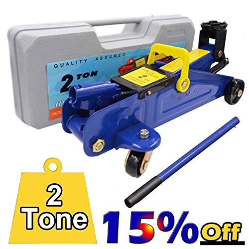 2 Tonne High Lift Hydraulic Trolley Jack with Handle and Storage Case...