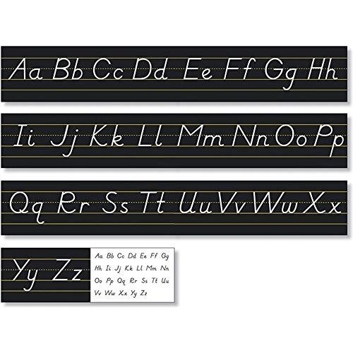 North Star Teacher Resources Black Modern Manuscript Alphabet Line