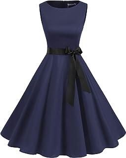 Gardenwed Damen 50S Retro Cocktailkleid Rockabilly Retro Schwingen Kleid Faltenrock A-Line Petticoat