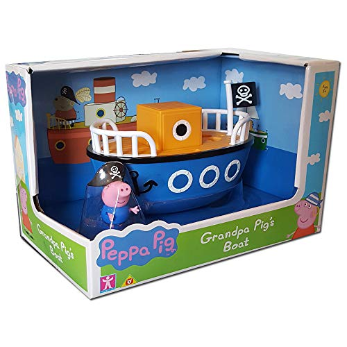 Peppa Pig Character Options – 6495 Weebles – Pirate George on Ship – Stehaufmännchen