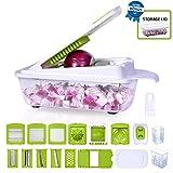 Onion Chopper Vegetable dicer cutter mincer julienne mandoline egg slicer cheese grater with lid