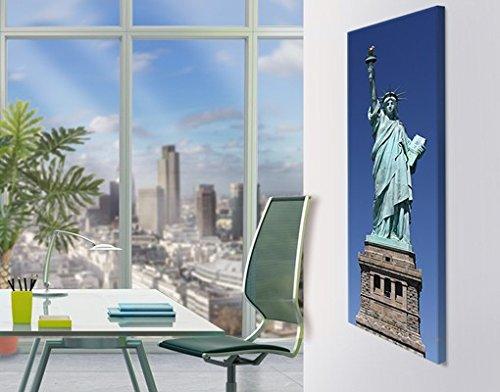 Lienzo artístico Nº 131 de la Estatua de la Libertad 40 x 120 cm, lienzo artístico, impresión sobre lienzo, impresión artística sobre lienzo