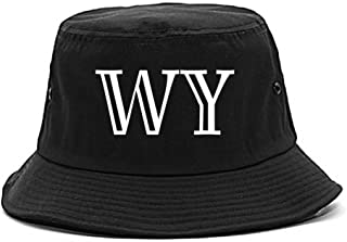 WY Wyoming High Fashion Typography State Bucket Hat