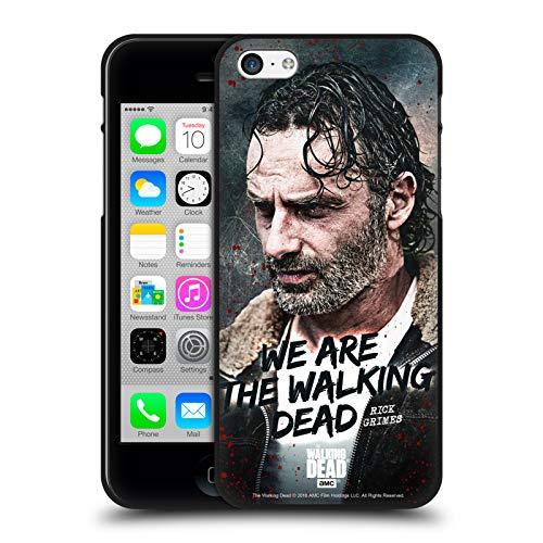 Oficial AMC The Walking Dead Cita Legado de Rick Grimes Funda de Gel Negro Compatible con Apple iPhone 5 / iPhone 5s / iPhone SE 2016