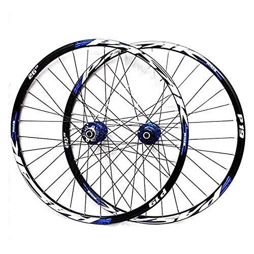 WYJW Juego de Ruedas de Bicicleta de montaña, Rueda de Bicicleta de 29/26/27,5 Pulgadas (Delantera + Trasera) Llanta de aleación de Aluminio de Doble Pared MTB Freno de Disco de liberac
