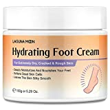 Lagunamoon Foot Cream for Dry Cracked Feet, Urea, Vitamin E & Hyaluronic Acid Foot Moisturizer for Dry Skin, Rough, Calloused, Cracked Feet Repair and Soften, Non-Greasy & Fast Absorbing, 5.3 oz